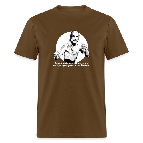 schneier19 martial white - Men's T-Shirt