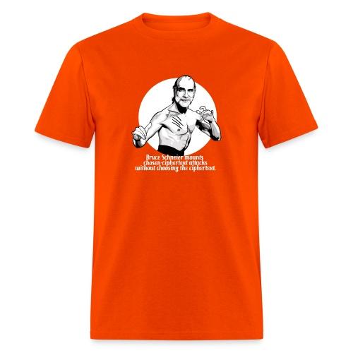 schneier23 martial white - Men's T-Shirt