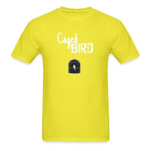 Caged Bird Abstract Design - Men's T-Shirt