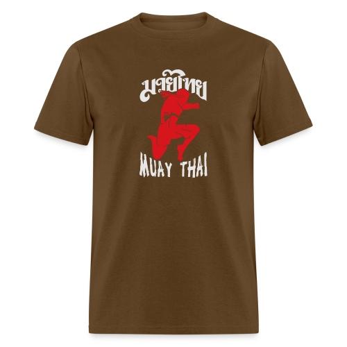 Muay thai flying knee kick - Men's T-Shirt