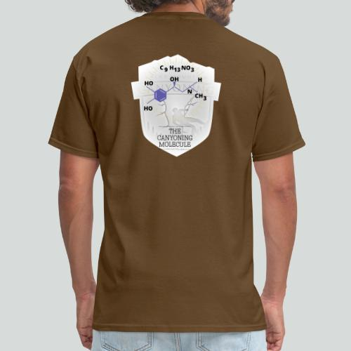 THE CANYONING MOLECULE-on dark back-2 sided - Men's T-Shirt