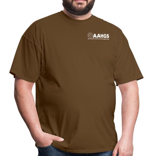 AAHGS logo closeup trans white - Men's T-Shirt