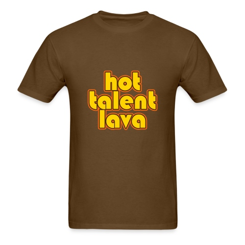 Hot Talent Lava - Yellow Letters - Men's T-Shirt