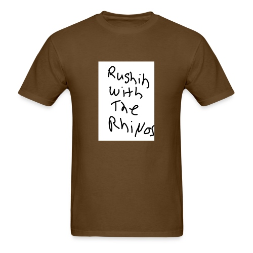 rushing with the rhino's - Men's T-Shirt
