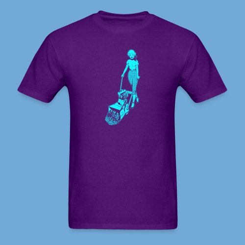 Roto-Hoe Cyan. - Men's T-Shirt