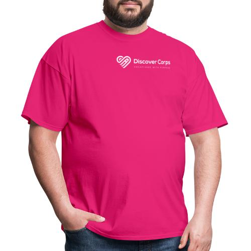 DiscoverCorp Logo Horizontal Rev High white - Men's T-Shirt