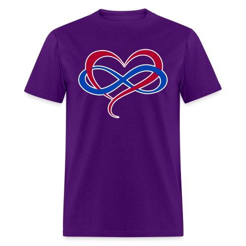 Polyamory Infinity Heart - Men's T-Shirt