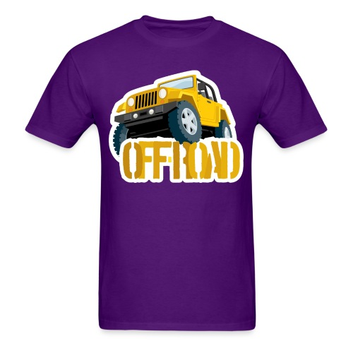 Yellow 4X4 off-road Jeep - Men's T-Shirt