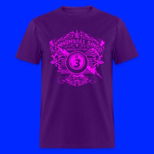Vintage Cannonball Bingo Crest Pink - Men's T-Shirt