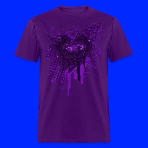 Vintage Cannonball Bingo Drip Purple - Men's T-Shirt