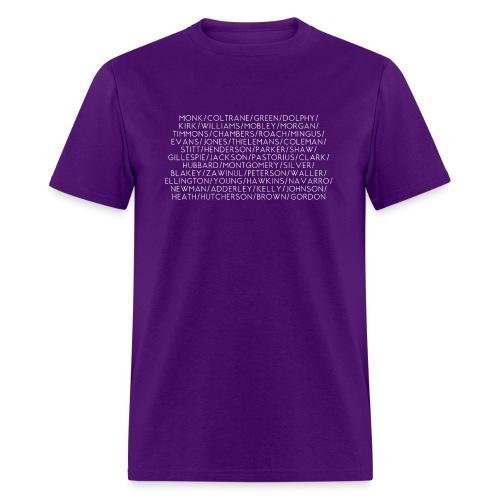 Jazz Greats 1 TShirt (White Lettering) - Men's T-Shirt