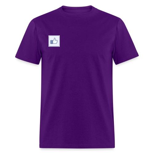 facebook like button jpg - Men's T-Shirt