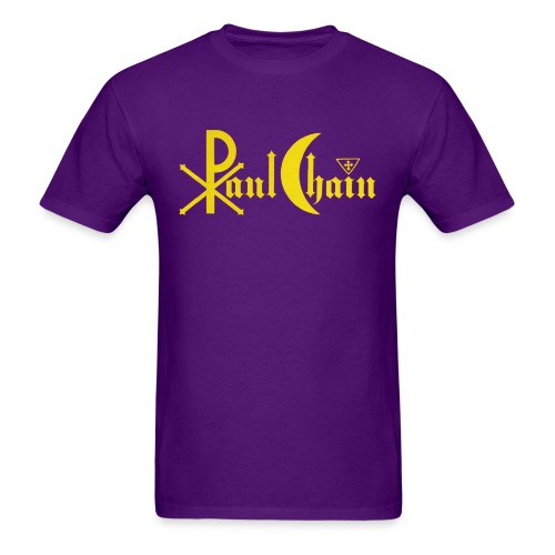 Paul Chain Coffee Mug ~ Yellow on Red - Men's T-Shirt