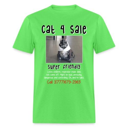 cat4sale2nobgblackshirt - Men's T-Shirt