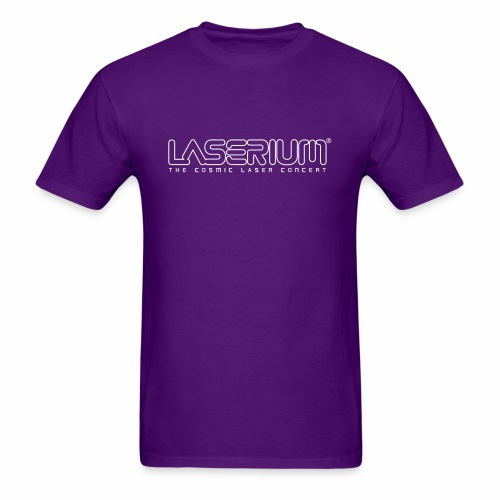 Laserium Logo OL White Tag - Men's T-Shirt
