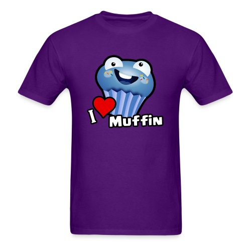 I Love Muffin - Men's T-Shirt