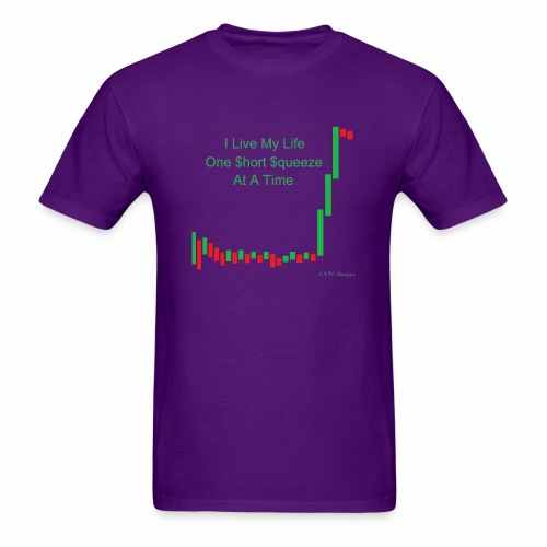 I live my life one short squeeze at a time - Men's T-Shirt