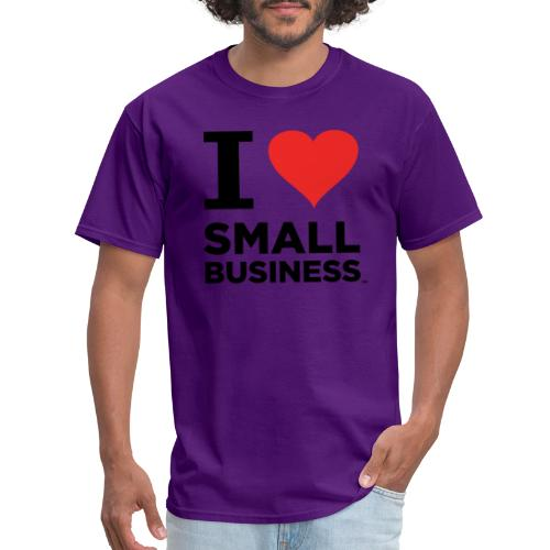 I Heart Small Business (Black & Red) - Men's T-Shirt