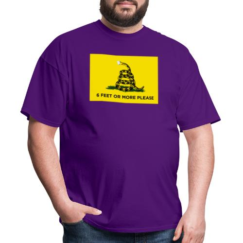 6 Feet Or More Please (Gadsden flag) - Men's T-Shirt