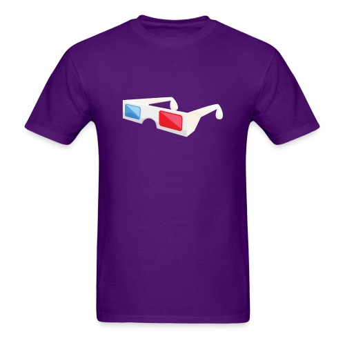 3D glasses - Men's T-Shirt