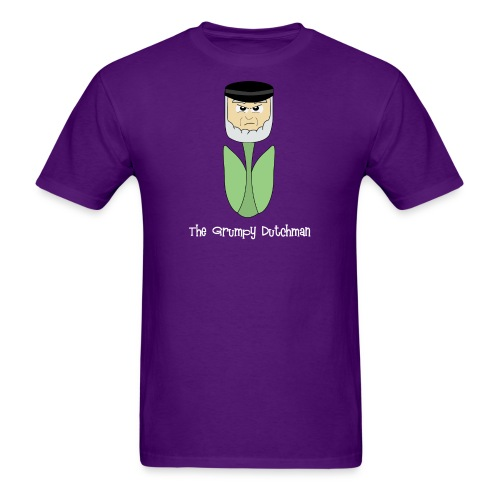Grumpy Tulip white lettering - Men's T-Shirt