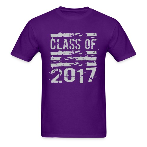 Class of 2017 Cool Grunge Typography - Men's T-Shirt