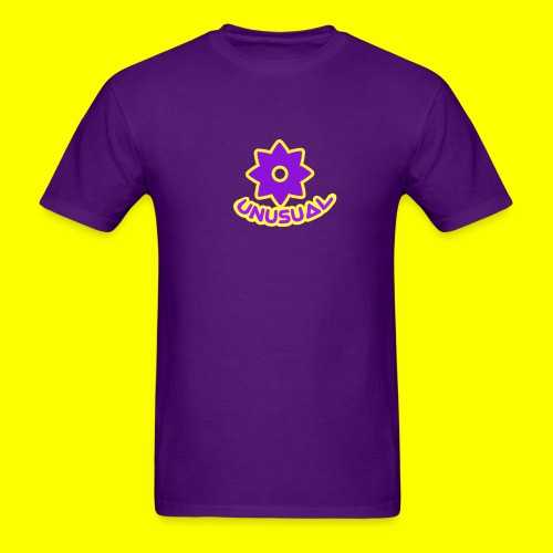 Ususual flower logo - Men's T-Shirt