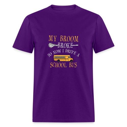 Funny Halloween My Broom - Men's T-Shirt