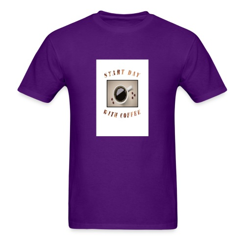 Start Day With Coffee - Men's T-Shirt