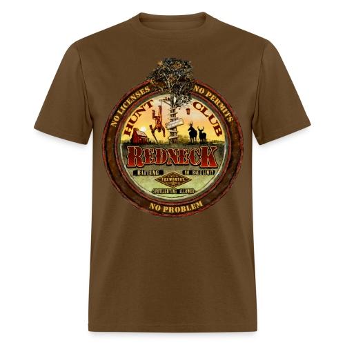 redneck hunt club - Men's T-Shirt