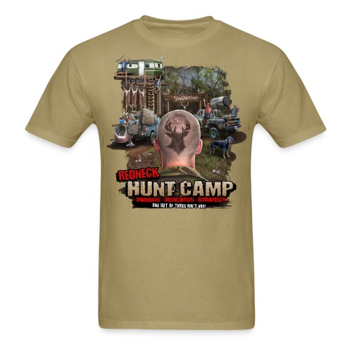 redneck hunt camp - Men's T-Shirt