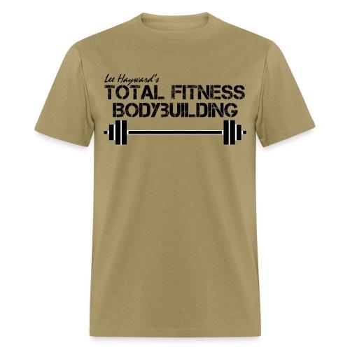 black white barbell - Men's T-Shirt
