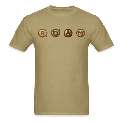 ROAM letters sepia - Men's T-Shirt