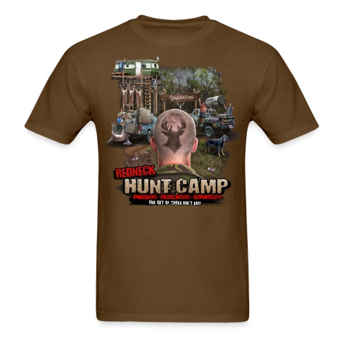 redneck hunt camp - Men's T-Shirt