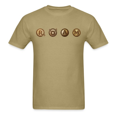 ROAM letters sepia - Men's T-Shirt