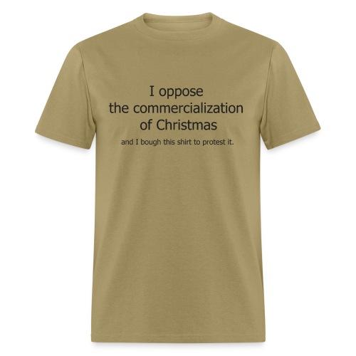 Christmas Commercialization Ladies T - Men's T-Shirt
