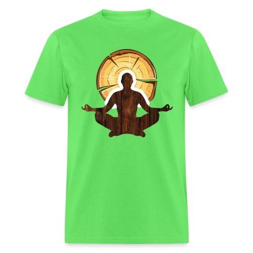 Woodworking is my meditation - Men's T-Shirt