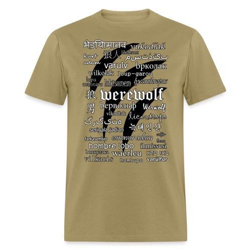 Werewolf in 33 Languages - Men's T-Shirt