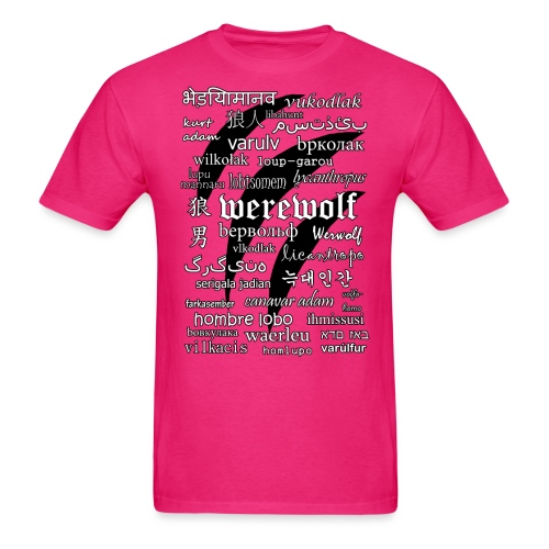Werewolf in 33 Languages - Men's T-Shirt