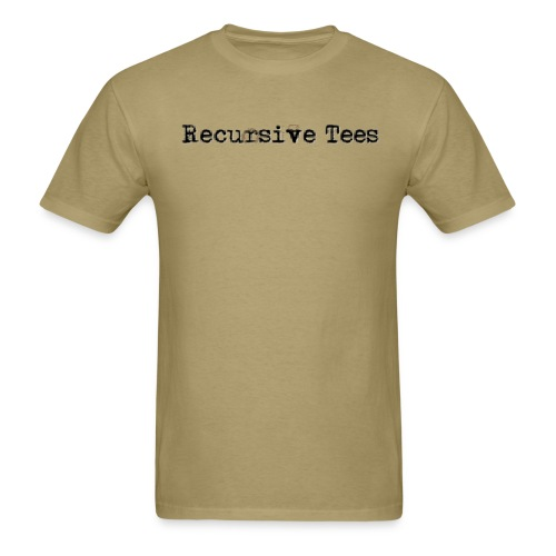 recursivetees whitelogo - Men's T-Shirt