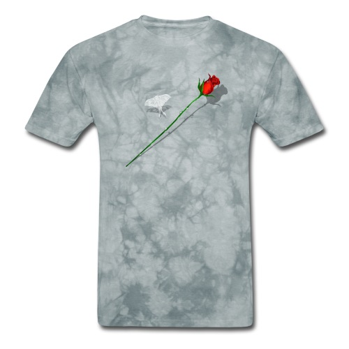 Shadowed Rose-White Butterfly - Men's T-Shirt
