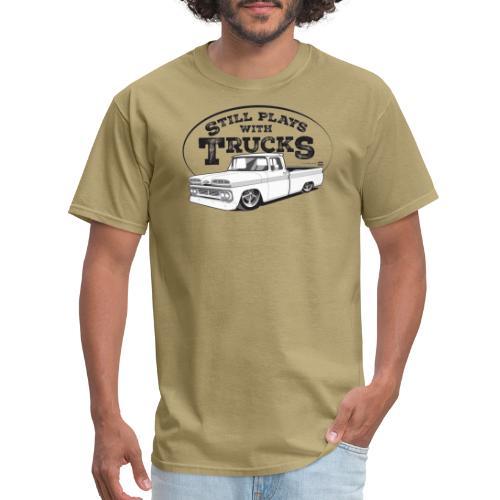 60C10BaggedLongFleet BLK - Men's T-Shirt
