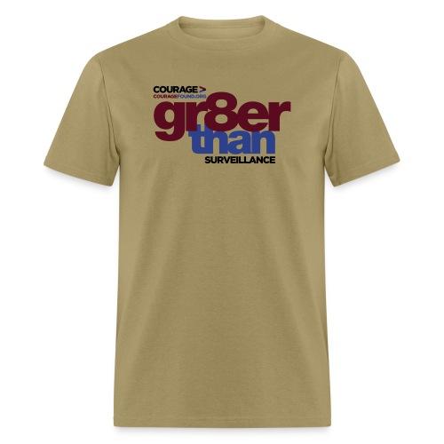 6697837 116101653 couragegr8erthansurvei - Men's T-Shirt