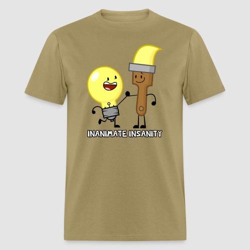 Lightbulb Paintbrush Duo - Men's T-Shirt
