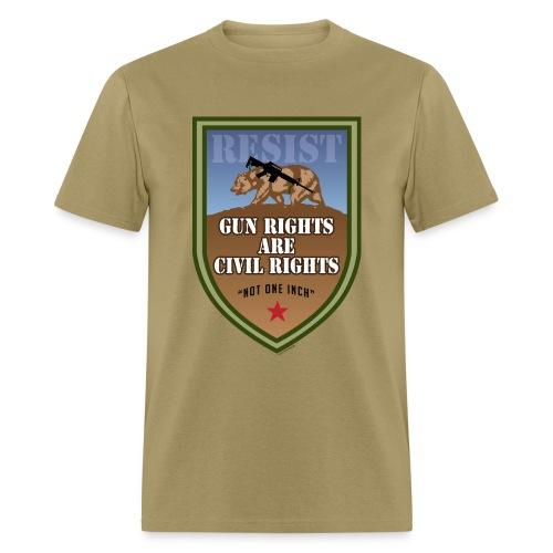 GunRightsCivilRightsResist png - Men's T-Shirt