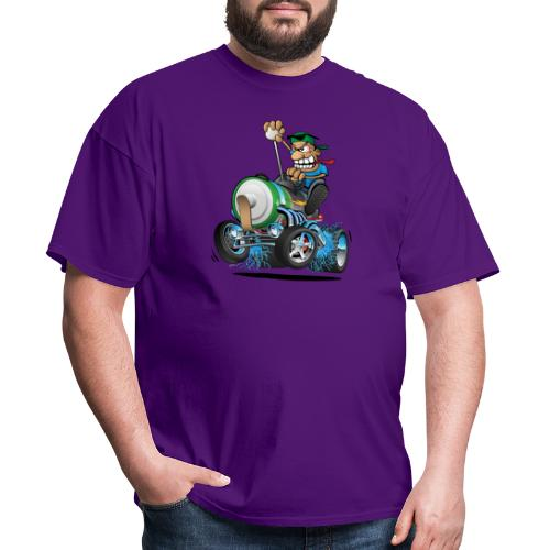 Hot Rod Electric Car Cartoon - Men's T-Shirt