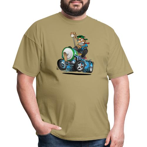 Hot Rod Electric Car Cartoon - Men's T-Shirt
