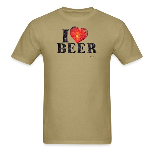 I Love Beer Distressed - Men's T-Shirt