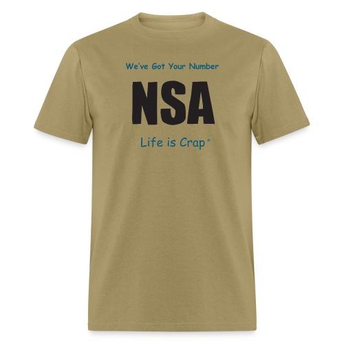 lic609 nsa b - Men's T-Shirt