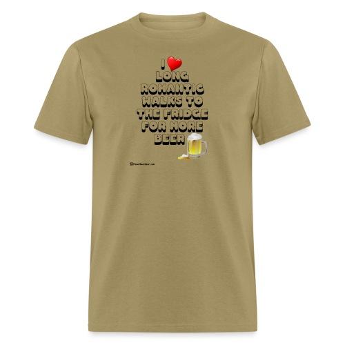 I Love Romantic Walks To The Fridge - Men's T-Shirt